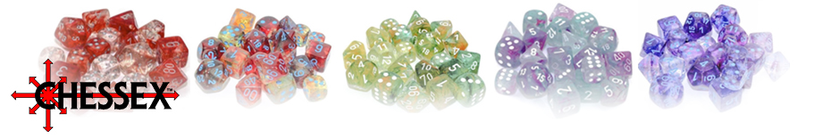 Chessex Luminary Nebula Dice Range