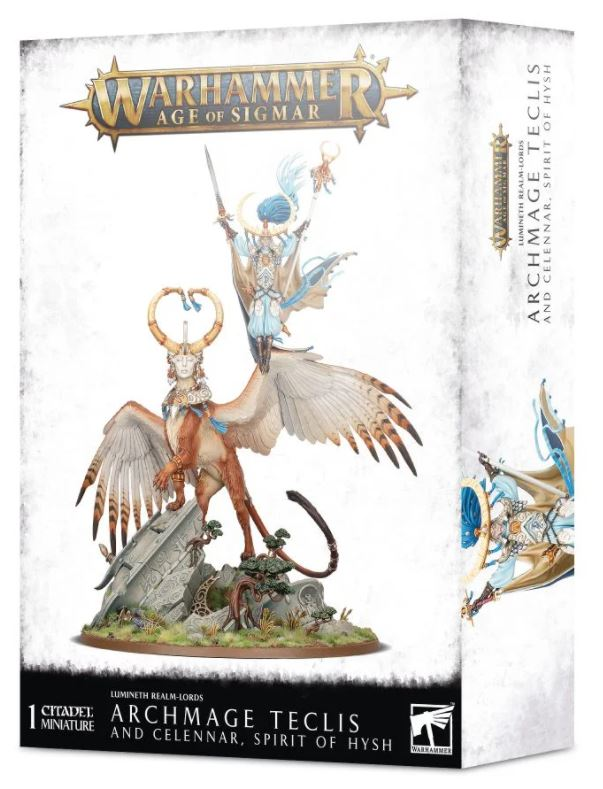 Age of Sigmar : Lumineth Realm-Lords : Archmage Teclis and Celennar, Spirit of Hysh